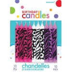 Amscan Animal Print Candle Assorted Candles