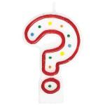 Amscan Polka Dots Question Mark Candle