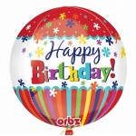 "18"" inch Orbz Stripes & Bursts Birthday Foil Balloon"