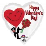 "Anagram 17"" Inch Happy Valentine's Day Heart Guy"