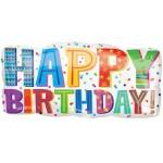 "Happy Birthday 33"" Inch Headlines Supershape Balloon"