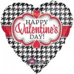 "Anagram 17"" inch Happy Valentines Day Houndstooth"