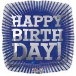 Anagram 17 inch Grey Tone Burst Happy Birthday