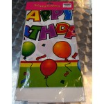 Party Plastic Happy Birthday Balloon Table Cover