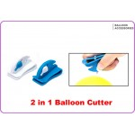 Multifunction Clip-On Balloon Cutter ~ White Color