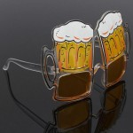 Fun Yellow Beer Party Glasses