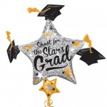 "Anagram 35"" inch Grad Cap Cluster SuperShape Balloon"
