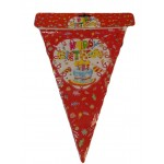 2.5m Party Decoration Banner ~ Red Cake Style