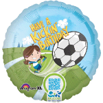 "Anagram 18"" Inch Have a Kickin' Birthday Interactive Girl's Soccer Balloon"