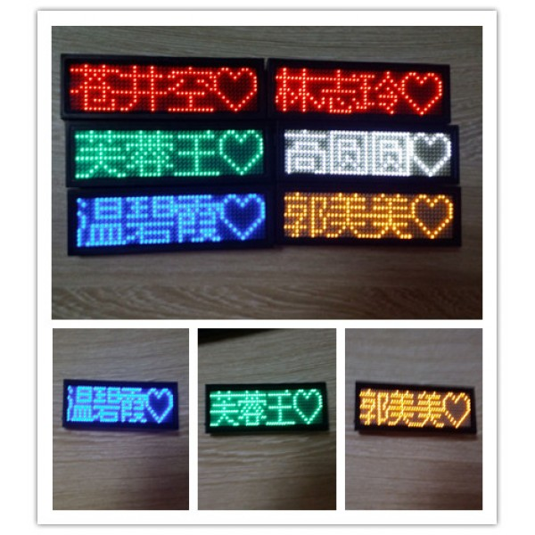 Programmable LED Scrolling Sign/Name Badge/Message Tag Display Board