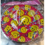 "Smiley Face 7"" Inch Round Paper Plate ~ 10pcs"