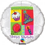 "Qualatex Happy Birthday 18"" Inch Party Foil Balloon"