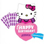 "Anagram 32"" Inch Happy Birthday Hello Kitty Balloon - Personalized Heart"