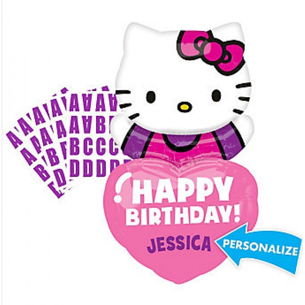 Anagram 32 Inch Happy Birthday Hello Kitty Balloon