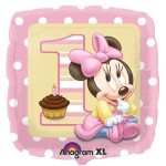 "Anagram 18"" Inch Baby Minnie Mouse 1st Birthday Balloon"