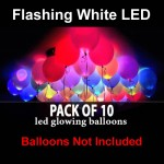 Flashing White LED Balloon Light ~ 10 pcs