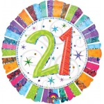 "Anagram 18"" Inch Radiant 21 Birthday Balloon"