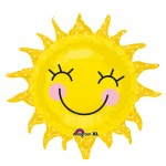 "Anagram 29"" Inch Sunshine Sun SuperShape Balloon"