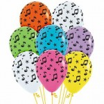 "Mytex 12"" Inch AO Music Stars Printed Balloon ~ 10pcs"