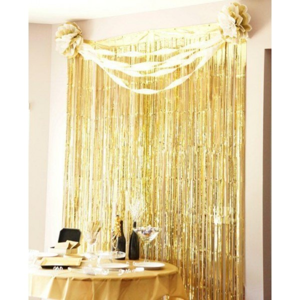 Foil Tinsel Party Curtain Backdrop Photo Shooting Decoration