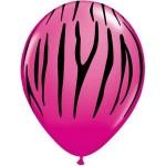 """Sempertex 12"""" Inch AO Zebra Fuchsia ~ 10pcs"""