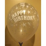 "Sempertex 12"" Inch AO Happy Birthday Clear Transparent ~ 10pcs"