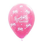 """Sempertex 12"""" Inch AO Just Married Pink ~ 10pcs"""