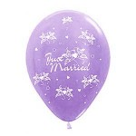 "Sempertex 12"" Inch AO Just Married Lilac ~ 10pcs"