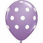 "Mytex 12"" Inch AO White Polka Dots Lilac ~ 10pcs"