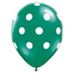 "Mytex 12"" Inch AO White Polka Dots Green ~ 10pcs"