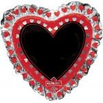 Anagram 28 Inch Write-On Heart Shaped Blackboard Balloon