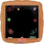 "Anagram 24"" Inch Write-On Wood Frame Blackboard Balloon"