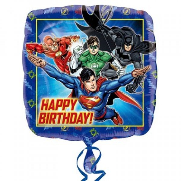 Character Balloons - Anagram 17 inch Justice League Happy Birthday
