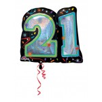 Anagram 26 x 27 inch Supershape Brilliant Birthday 21