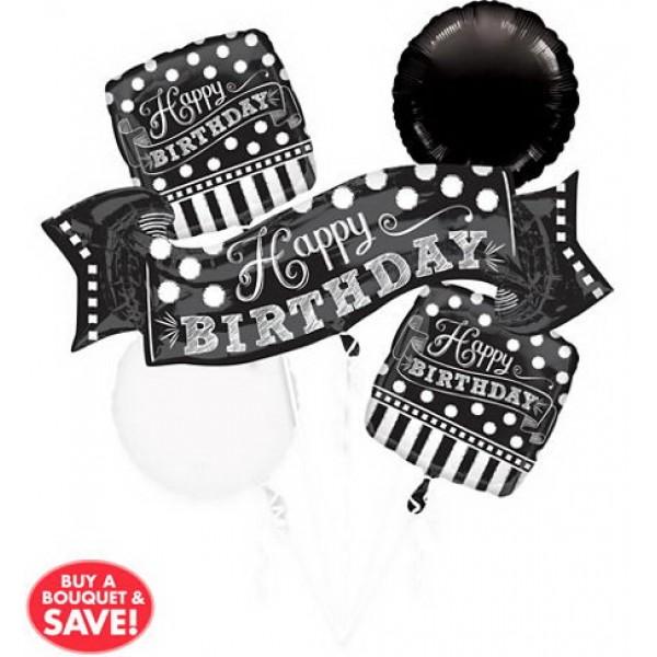 Balloon Bouquet Pack - Chalkboard Birthday Balloon Bouquet 5pc
