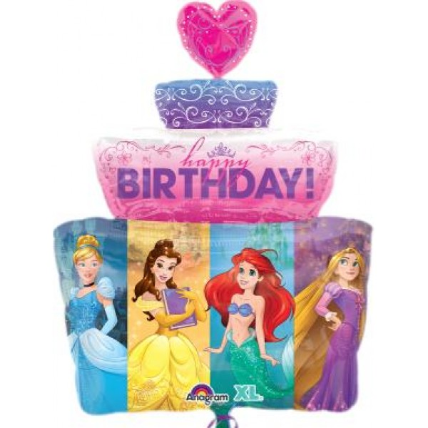 Disneys Multi Princess Birthday Cake 28 Inch Supershape Balloon