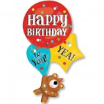 Anagram 33 x 21 inch Supershape HBD Bear with Balloons