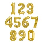 "40"" Inch Gold Giant Number Foil Balloons 0-9"