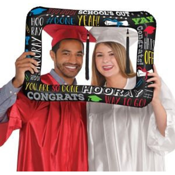 Graduation - Anagram 21 Inch Graduation Selfie Photo Inflatable Frame