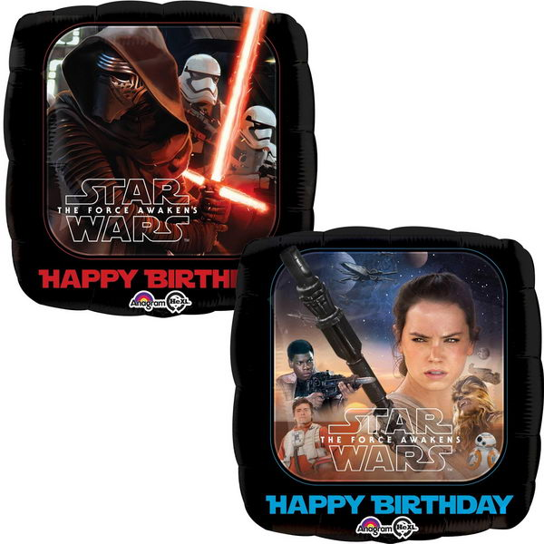 Character Balloons - Anagram 17 inch Star Wars The Force Awakens Birthday