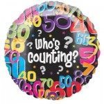 "Anagram 18"" Inch Who's Counting Age Balloon"