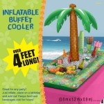 Amscan 2 x 4.1 x 3 ft Inflatable Palm Tree Buffet Cooler