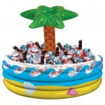 Amscan 28.5 x 26.5 inch Palm Tree Inflatable Cooler