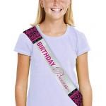 Amscan Metallic Black & Pink Birthday Princess Sash