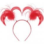 Amscan Ponytail Headband Apple ~ Red