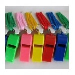 Mix Color Plastic Whistle Lanyard For Kids Party ~ 20pcs