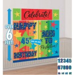 Amscan A Year to Celebrate Personalized Scene Setter