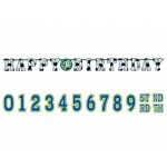 Amscan Championship Soccer Jumbo Letter Happy Birthday Add an Age Banner