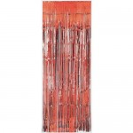Decoration Item - Amscan Dazzling Foil Metallic Curtain Red 8 ft x 3 ft