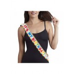 Amscan Metallic Rainbow Birthday Sash 60 inch